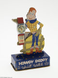 Memorabilia:Miscellaneous, Howdy Doody Wrist Watch and Display (Ideal Watch Company, 1950s). Here is a stunning Howdy Doody watch in its original displ...