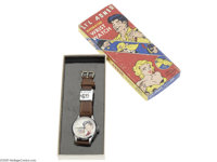 Li'l Abner Animated Wrist Watch - American Flag (The New Haven Clock and Watch Company, 1951). Produced by the New Haven...