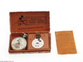 Memorabilia:Miscellaneous, Mickey Mouse Pocket Watch with Original Fob and Box (Ingersoll, 1930s). In the minds of many Disney collectors, this watch i...