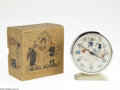 "Memorabilia:Miscellaneous, Snow White Clock with Box - French (Bayard, circa 1940). Proving that the appeal of the feature film, ""Snow White and the Se..."