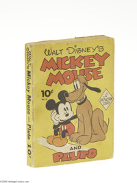 Fast-Action Story #16 Mickey Mouse and Pluto (Dell, 1942) Condition: FN. Highlighted by a cover that even a mother could...