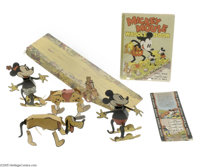 Mickey Mouse Waddle Book with Complete Waddles, Dust Jacket and Banner (Blue Ribbon Press, 1934). While any gathering of...