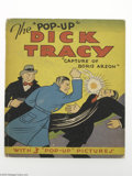 """Memorabilia:Comic-Related, The """"Pop-Up"""" Dick Tracy Capture of Boris Arson (Blue Ribbon Books, 1935). The proud son of Pawnee, Oklahoma, Chester Gould's..."""