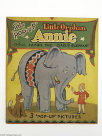 """The """"Pop-Up"""" Little Orphan Annie and Jumbo, the Circus Elephant (Blue Ribbon Books, 1935). Star of one of the..."""