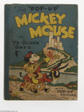 """Memorabilia:Miscellaneous, The """"Pop-Up"""" Mickey Mouse in Ye Olden Days - The Midget Pop-Up Book (Blue Ribbon Company, 1934) Condition: FN. This 1934 boo..."""