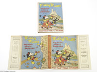 Micky Maus Am Hofe Konig Arthurs Pop-Up Book with Dust Jacket - German (Micky-Maus-Verlag Bollman, 1930s). A testimony t...