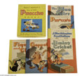 "Memorabilia:Miscellaneous, Box Set of Six Pinocchio Books (Whitman, 1940). Called ""the most perfect animated movie"" by many aficionados, there is no do..."