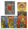 "Memorabilia:Miscellaneous, Boxed Set of the Seven Dwarfs Books (Whitman, 1938). The release of ""Snow White"" in 1938 resulted in a flood of related Disn..."