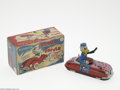 Memorabilia:Miscellaneous, Donald the Driver Wind Up with Box (Linemar, 1950s). Toy cars and Disney characters have made a natural pairing over the yea...