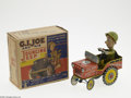 Memorabilia:Miscellaneous, G.I. Joe Jouncing Jeep Toy with Box (Unique Art Manufacturing Co., 1940s). The G.I. Joe character first appeared immediately...