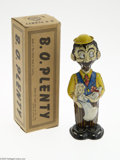Memorabilia:Comic-Related, B. O. Plenty Windup Toy with Box (Marx, 1947). Here is B.O. Plenty who has just arrived to present his Baby Sparkle with a g...