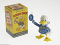 Memorabilia:Miscellaneous, Donald Duck Celluloid Wind-Up Toy with Box (Reliable Plastics Co., undated). A Donald Duck wind-up toy. This celluloid Donal...