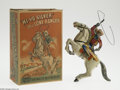 Memorabilia:Comic-Related, Lone Ranger Wind-Up Toy with Box (Marx, 1938). This majestic tinlitho is another great product manufactured by Louis Marx &...