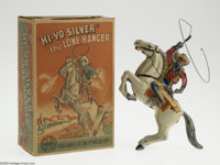 Lone Ranger Wind-Up Toy with Box (Marx, 1938). This majestic tin litho is another great product manufactured by Louis Ma...