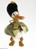 Memorabilia:Miscellaneous, Knickerbocker Donald Duck Doll (Knickerbocker, undated). Composition doll with velvet costume and busby hat. It comes with i...