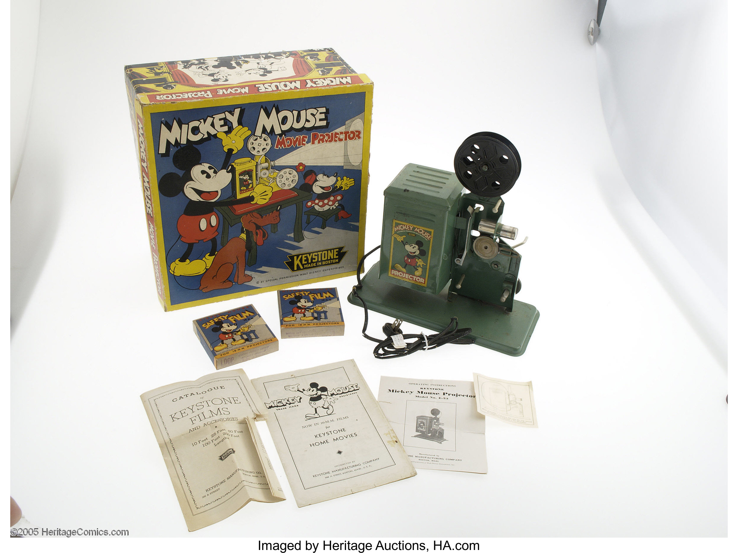 Mickey Mouse Movie Projector with Box (Keystone