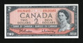 Canadian Currency: , BC-38b $2 1954 Modified Portrait. . ...