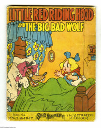 """Little Red Riding Hood and the Big Bad Wolf Softcover (David McKay Company, 1934). From the Walt Disney """"Silly Symp..."""