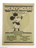 Memorabilia:Miscellaneous, Mickey Mouse Book (Bibo and Lang, 1930). The first Mickey Mouse book, published in 1930 by Bibo and Lang, makes this a truly...
