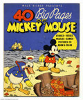 Memorabilia:Miscellaneous, 40 Big Pages of Mickey Mouse (Whitman, 1936). This book is extremely rare and almost never offered for sale. A Near Mint cop...