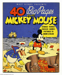40 Big Pages of Mickey Mouse (Whitman, 1936). This book is extremely rare and almost never offered for sale. A Near Mint...