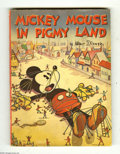 Memorabilia:Miscellaneous, Mickey Mouse in Pigmy Land (Whitman, 1936). In very good vintage condition, this collectible book is a rare find! Published ...