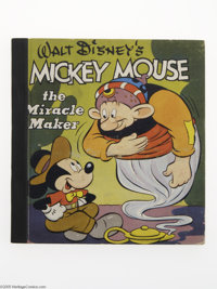 Mickey Mouse the Miracle Maker (Whitman, 1948). A very urban looking Mickey (sporting a hat and bow tie) has his hands f...