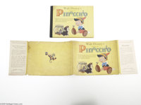Walt Disney's Version of Pinocchio with Dust Jacket - Small (Grosset and Dunlap, 1939). The story of mischievous, pranki...