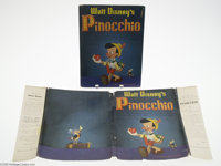 """Walt Disney's Pinocchio with Dust Jacket (Random House, 1939) Condition: VG. The release of """"Pinocchio"""" result..."""