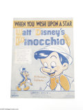 Memorabilia:Miscellaneous, When You Wish Upon a Star Sheet Music (Irving Berlin Inc., 1939). It seems like Uncle Walt knew he had a musical hit on his ...
