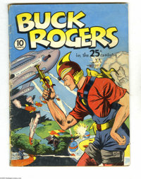Buck Rogers #1 (Eastern Color, 1940) Condition: GD/VG. Sunday strip reprints by Rick Yager. Dick Calkins cover. Overstre...