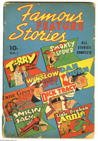 Famous Feature Stories #1 (Dell, 1938) Condition: GD. All your favorite comic strip characters in one early comic book...