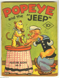 Platinum Age (1897-1937):Miscellaneous, Feature Books #3 Popeye (David McKay, 1937) Condition: FN.Featuring Popeye and the Jeep. Nice deep colors, slight spinerol...