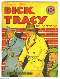 Feature Books #4 Dick Tracy (David McKay, 1937) Condition: FN. A very nice copy of this early Dick Tracy item. Name of o...