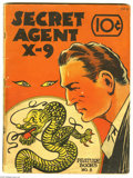 Platinum Age (1897-1937):Miscellaneous, Feature Books #8 Secret Agent X-9 (David McKay, 1937) Condition:GD+. One of the scarcest titles to obtain in the Feature ...