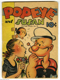 Golden Age (1938-1955):Humor, Feature Books #10 Popeye and Susan (David McKay, 1938) Condition: FR/GD. Three inch spline split to lower part of cover. Var...