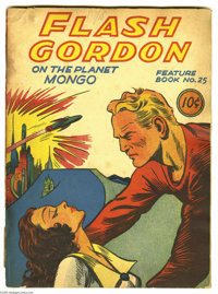Feature Books #25 Flash Gordon on the Planet Mongo (David McKay, 1941) Condition: FR/GD. Beautiful deep colors. Appears...