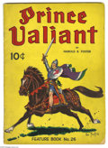Golden Age (1938-1955):Miscellaneous, Feature Books #26 Prince Valiant - Signed (David McKay, 1941) Condition: VG. Signed by Hal Foster! There is a two inch spine...