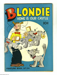 Feature Books #34 Blondie (David McKay, 1939) Condition: VG+. Overstreet 2005 VG 4.0 value = $44. From the Larry Jacobs...
