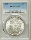 Morgan Dollars: , 1899 $1 MS65 PCGS. PCGS Population: (1511/350). NGC Census: (622/79). CDN: $750 Whsle. Bid for problem-free NGC/PCGS MS65. ...