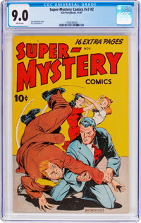 Super-Mystery Comics V7#2 (Ace, 1947) CGC VF/NM 9.0 White pages