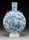 Asian:Chinese, A Chinese Blue and White Porcelain Moonflask Vase, Qing Dynasty,19th century. 19-1/4 inches high (48.9 cm). ...
