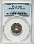British West Africa:British Colony, British West Africa: British Colony. George VI copper-nickelSpecimen 1/10 Penny 1950-KN SP67 PCGS,...