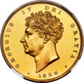 Great Britain: George IV gold Proof 2 Pounds 1826 PR62+ Cameo NGC