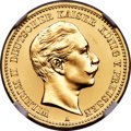 German States: Prussia. Wilhelm II gold Proof 10 Mark 1889-A PR64 Cameo NGC