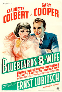 """Bluebeard's Eighth Wife (Paramount, 1938). One Sheet (27"""" X 41"""") Russell Patterson Artwork"""
