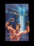 """Movie Posters:Sports, Rocky III by Bob Peak (United Artists, 1982). Original Mixed-MediaConcept Poster Artwork (30"""" X 40"""").. ..."""
