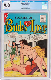 Brides in Love #3 (Charlton, 1957) CGC VF/NM 9.0 Off-white to white pages