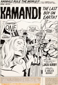 Original Comic Art:Splash Pages, Jack Kirby and D. Bruce Berry Kamandi, the Last Boy On Earth#19 Splash Page 1 Original Art (DC, 1974)....