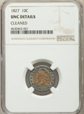 Bust Dimes, 1827 10C -- Cleaned -- NGC Details. UNC. NGC Census: (0/136). PCGSPopulation: (8/145). CDN: $1,225 Whsle. Bid for pr...